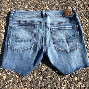 American Eagle | Denim Midi Shorts